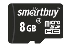 Карта памяти Micro SD Smartbuy 8Gb без адаптера