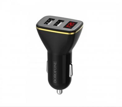 Автомобильное зарядное устройство Borofone BZ11 black
