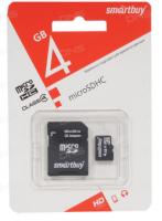 Карта памяти Micro SD Smartbuy 4Gb