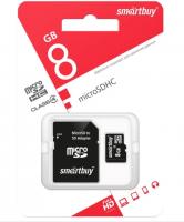 Карта памяти Micro SD Smartbuy 8Gb