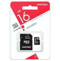 Карта памяти Micro SD Smartbuy 16Gb